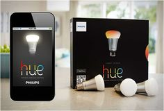 These bulbs let you control your lighting from an iPhone or iPad and personalize settings such as timers, colors, shade and brightness.