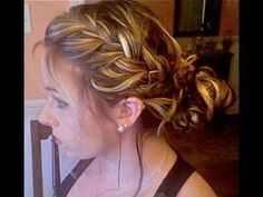 Side-Braided Up-do - I do this with my hair, but tighter for sporting activities such as softball. This is really awesome though also for an elegant updo when braided like in the video.