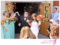 Throw sprinkles at weddings instead of rice! Look how cool the pictures turn out!