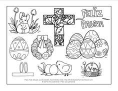 Dibujos para colorear de pascua de resurrección
