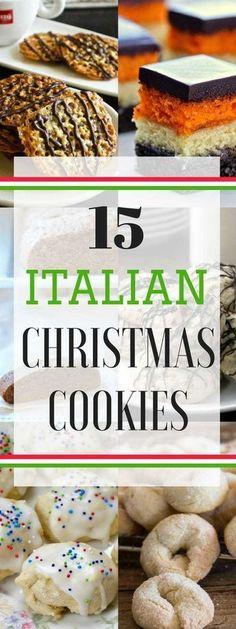 15 Italian Christmas Cookies - traditional and authentic Italian Cookies and some not so traditional! SnappyGourmet.com #Cookies #Christmas #Italian SnappyGourmet