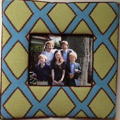 Custom needlepoint picture frame