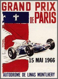 Grand Prix - Paris 1966 - Car Races Poster Print https://www.etsy.com/shop/VintagePosterPrints