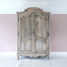 Buy the beautifully designed Chateauneuf Rustic French Armoire, by The French Bedroom Company. Armoire Makeover, Furniture Makeover, Furniture Decor, Painted Furniture, Kitchen Armoire, Decorative Hinges, Painted Armoire, French Armoire, Linen Cupboard