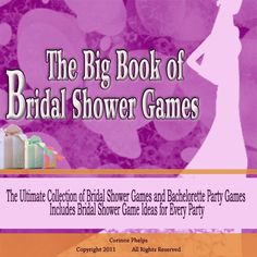 The Big Book of Bridal Shower Games: If You Are Looking for Unique Bridal Shower Games and Bachelorette Party Games for the Most Fun Ever You Will Find Them Here Best Friend Wedding, Sister Wedding, Dream Wedding, Unique Bridal Shower, Bridal Shower Games, Bridal Showers, Bachelorette Party Games, Shower Party, Shower Time