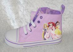 Disney Princess Canvas High Top shoe lil Girls Sneakers size 7, 8, 9, 10, 11 New 23.74 http://cgi.ebay.com/ws/eBayISAPI.dll?ViewItem&item=261531111938&ssPageName=STRK:MESE:IT