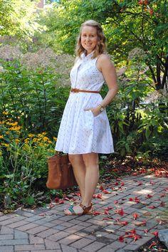 Outfit: Sleeveless Shirtdress
