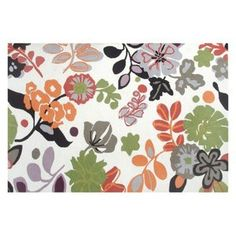 Rug Market Resort 25363 Grasmere Outdoor Rug - Green / Orange / White