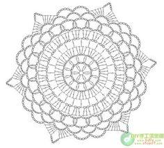 crochet - squares and doilies crochet Motif Mandala Crochet, Crochet Doily Diagram, Crochet Doily Patterns, Crochet Chart, Crochet Squares, Thread Crochet, Crochet Stitches, Bead Patterns, Pattern Ideas