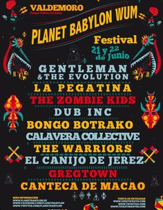 PLANET BABYLON WUM FESTIVAL 2013,  21 Y 22 DE JUNIO