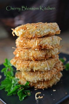 Coconut Crusted Chicken Patties | www.CherryBlossomKitchen.com