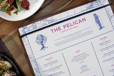 The Pelican menu and identity design by Foreign Policy.