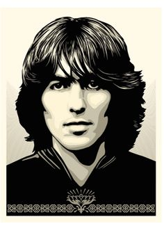 Shepard Fairey has announced a limited-edition art print celebrating the release of George Harrison: The Apple Years George Harrison, Olivia Harrison, Beatles Gifts, Beatles Art, The Beatles, Shepard Fairey Posters, Shepard Fairey Obey, Rhys Cooper, Heavy Metal