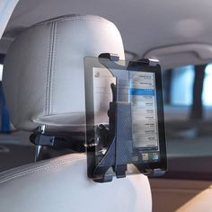 """12 bucks instead of BMW's $100 version. Universal Tablet #Headrest #Car Mount – $12 / The Universal Tablet Headrest Car Mount from ARKON will firmly grip any 9-12"""" tablet. http://thegadgetflow.com/portfolio/universal-tablet-headrest-car-mount/"""