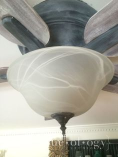 A great makeover of a ceiling fan with Chalk Paint® decorative paint. I Painted a Ceiling Fan…. | Hueology Studio www.hueologystudio.com