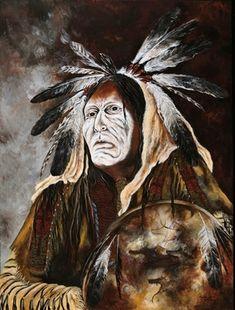 """Cindys Art - Knight paard   """"Ridder Horse"""" 30 X 40, originele acryl op doek, Limited Edition / 95, Sioux... Mysterie, dood, nacht, geheim, messenger, esoterische kennis... Als een Sioux-symbool, het paard is de kracht van de aarde met het gefluister van wijsheid die zijn gevonden in de wind van de geest. """" Knight paard""""is al lange tijd vereerd heeft helper, messenger en voorbode, en van geest kennis aan de inheemse Amerikaan. Weloverwogen wild en een symbool van vrijheid."""