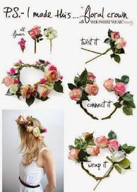 How to Chic: DIY FLORAL CROWN