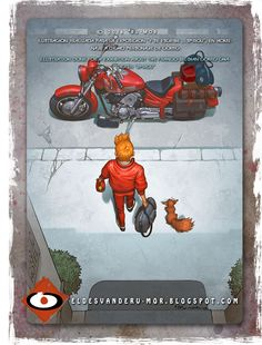 Tribute to Spirou and Kaneda (Akira) by ªRU-MOR, for a exhibition of Editorial Dibbuks