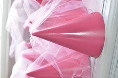 Princess hats out of birthday hats. So simple! http://myboredomantidote.blogspot.com/2012/05/princess-hats.html