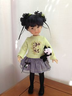 Panda Knit Top w/grey short skirt | Flickr - Photo Sharing!