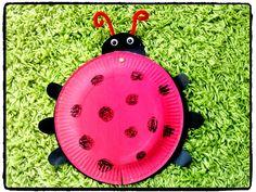 coccinelle, insecte, printemps, bricolage enfant, assiette en carton