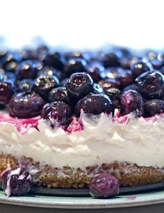 Blueberry Cheesecake (Almost Syn Free) After the success with the half syn roulade, I decided to take the recipe one step fur...