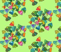 fern leaf pattern in light green fabric by aprilmariemai on Spoonflower - custom fabric