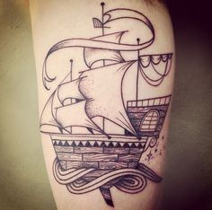 Clipper Ship Tattoo