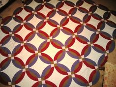 double wedding ring quilt | Double Wedding Ring Quilt
