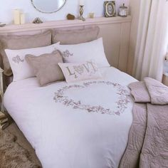 Cream Parisian Duvet Cover | Dunelm like as a spare