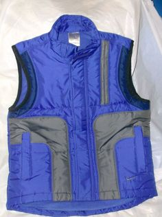 Boy,s Girls Nike Puffer Ski WInter Vest Blue Size 8 Small New without tag #Nike #Vest #Everyday