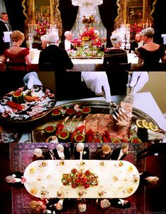 dinner party with the van der Luydens - The Age of Innocence (1993) Martin Scorsese #CostumeDesign: Gabriella Pescucci