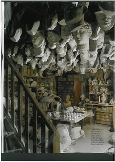 My inspiration. I would like to meet the owner of this atelier:-)  Photo from the  world of interiors