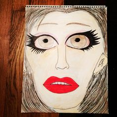 This is a drawing that I made and I used nail polish and markers.It turned out so well.I love it.