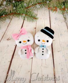Adornos de Navidad muñeco de nieve muñecos fieltro regalos de Navidad para amigos Navidad decoraciones fiesta decoración muñeco de nieve adorno Navidad decoraciones Estos muñeco de nieve de la linda chica y un muñeco de nieve niño perfeccionan para sus celebraciones de Navidad y harán una