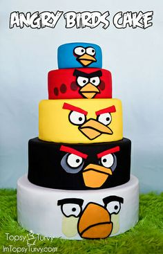 Exclusive Photo of Angry Birds Birthday Cake . Angry Birds Birthday Cake Angry Birds Birthday Cake Ashlee Marie Real Fun With Real Food Angry Birds Birthday Cake, 25th Birthday Cakes, Birthday Cake For Husband, Bird Birthday Parties, Angry Birds Cake, 25 Birthday, Birthday Ideas, Bird Cakes, Cupcake Cakes