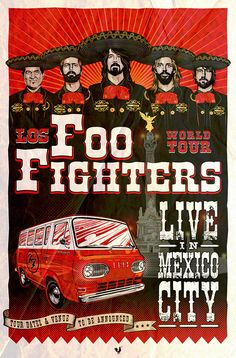 Foo Fighters Gig Poster on Behance
