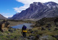 Leaving the Mt Thor Camp in Auyuittuq National Park
