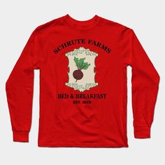 The Office - Schrute Farms Bed & Breakfast Long Sleeve T-Shirt