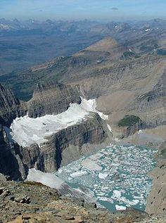 Grinnell Glacier in Glacier National Park, Montana