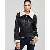 My new jacket ....  Marc New York Curly Faux Lamb Shearling Jacket