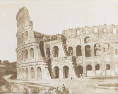 This photograph from 1846 shows the Colosseum in Rome. Fox Talbot took photos ranging from architecture to nature to people
