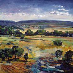 Rolling Hills I by Gay Petach 30x30, art, landscape art, fine art, art prints,