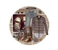 """""""Brown Sneakers"""" by halebugg ❤ liked on Polyvore featuring Zara, N°21, Converse, Barbour, Dolce&Gabbana and FOSSIL"""