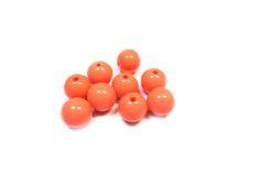 Kunststof kraal 12mm oranje ( 10 st) www.beadscreations.nl