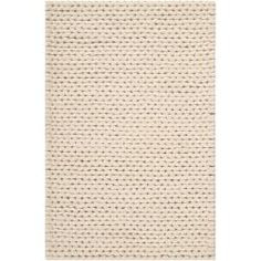 Hand-woven Tan Edison New Zealand Wool Soft Braided Texture Rug (5' x 8')