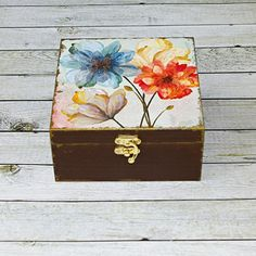 Zlaté květy Decoupage, Decorative Boxes, Create, Handmade, Home Decor, Homemade Home Decor, Hand Made, Craft, Decoration Home