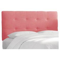 Dolce Linen Headboard - Linen Coral - California King - Skyline Furniture