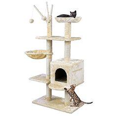 Songmics - Rascador para Gatos Árbol para Gatos Beige 131cm PCT34M Songmics http://www.amazon.es/dp/B016VZYUBC/ref=cm_sw_r_pi_dp_ukXswb07W7DT4