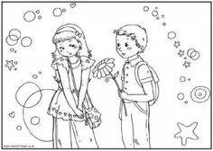 Someone Special Valentine Colouring Page